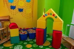 Školka ve školce - vytvořená s molitanové stavebnice